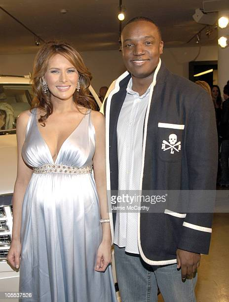 Melania Trump and Kwame Jackson during Melania Trump Unveils The 2007 Cadillac Escalade to The Fashion World at Milk Studios in New York City New...