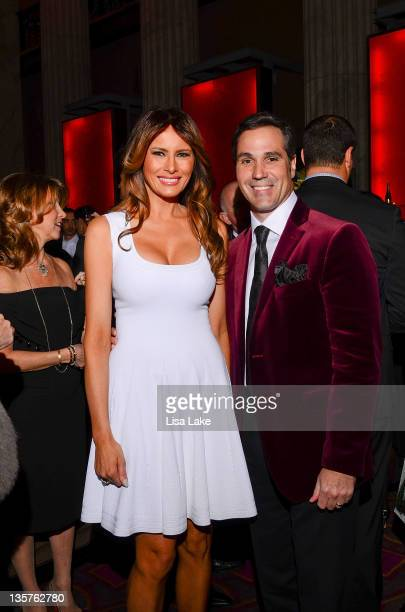Melania Trump and Michael Fitzgerald attend The Philadelphia Style Magazine cover event hosted by Melania Trump at Ritz Carlton Hotel on December 13...