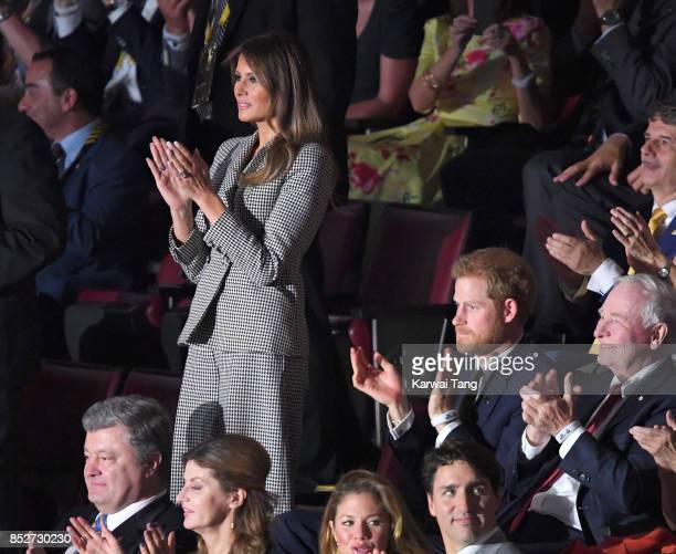 Melania Trump and Prince Harry attend the Opening Ceremony of the Invictus Games Toronto 2017 at the Air Canada Arena on September 23, 2017 in...