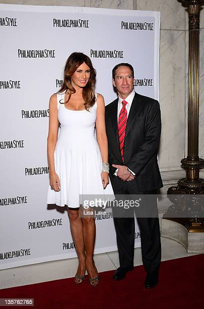 Melania Trump and Robert Distanislao attend the Philadelphia Style Magazine cover event hosted by Melania Trump at Ritz Carlton Hotel on December 13...