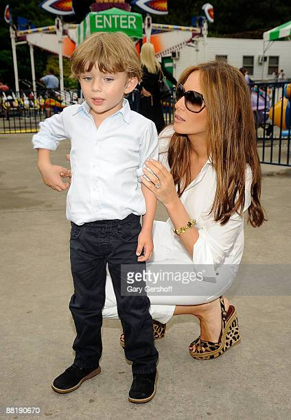 Melania Trump and son Barron Trump attend 3rd Annual Baby Buggy Bedtime Bash at Victorian Gardens at Wollman Rink Central Park on June 2 2009 in New...