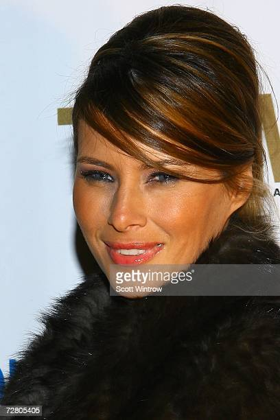 Melania Trump arrives for a birthday celebration and shopping soiree for Vanessa & Donald Trump Jr. To support Operation Smile at FAO Schwartz on...