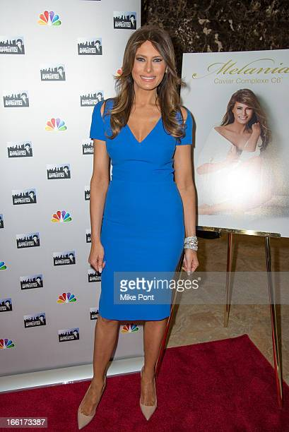 Melania Trump attends Celebrity Apprentice AllStar Event With Donald and Melania Trump at Trump Tower on April 9 2013 in New York City
