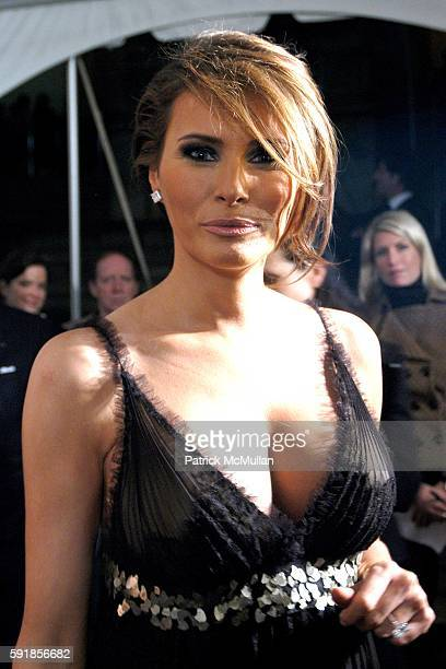 Melania Trump attends Party in honor of Vacheron Constantin's 250th Anniversary at Astor Hall on October 24 2005 in New York City