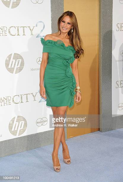 Melania Trump attends Sex And The City 2 Premiere presented by MercedesBenz And Maybach at Radio City Music Hall on May 24 2010 in New York City