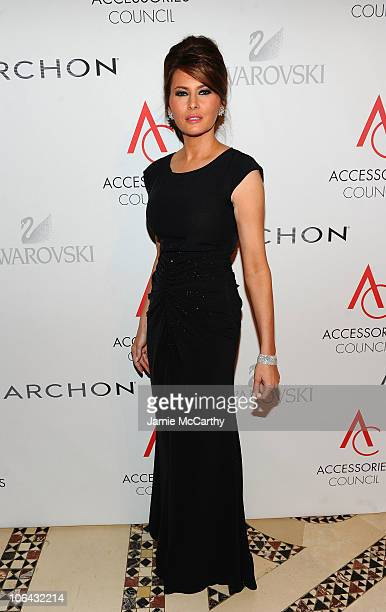 Melania Trump attends the 14th Annual ACE Awards presented by the Accessories Council at Cipriani 42nd Street on November 1 2010 in New York City