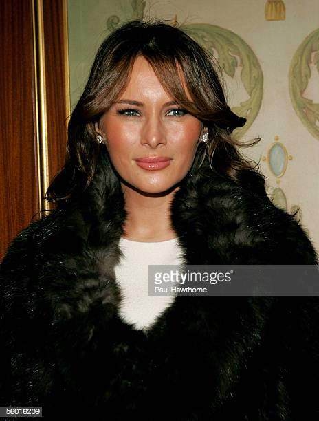 Melania Trump attends the 17th Annual Women of the Year Luncheon at The Pierre October 26 2005 in New York City