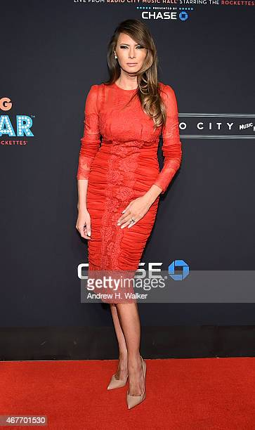 Melania Trump attends the 2015 New York Spring Spectacular Opening Night at Radio City Music Hall on March 26 2015 in New York City