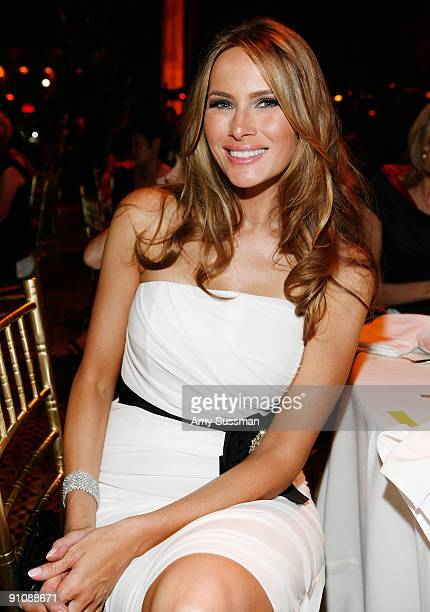 Melania Trump attends the 4th Important Dinner for Women hosted by HM Queen Rania Al Abdullah Wendi Murdoch and Indra Nooyi at Cipriani 42nd Street...