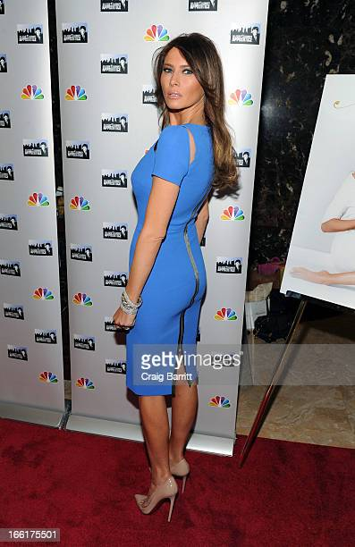 Melania Trump attends the 'Celebrity Apprentice AllStar' event at Trump Tower on April 9 2013 in New York City