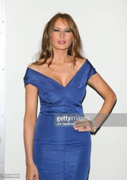 Melania Trump attends 'The Celebrity Apprentice' season finale at the American Museum of Natural History on May 10 2009 in New York City