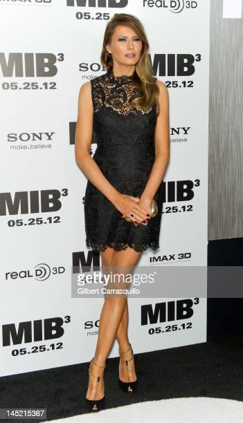 """Melania Trump attends the """"Men In Black 3"""" New York premiere at the Ziegfeld Theatre on May 23, 2012 in New York City."""