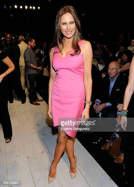 Melania Trump attends the Michael Kors Spring 2011 fashion show during MercedesBenz Fashion Week at The Theater at Lincoln Center on September 15...