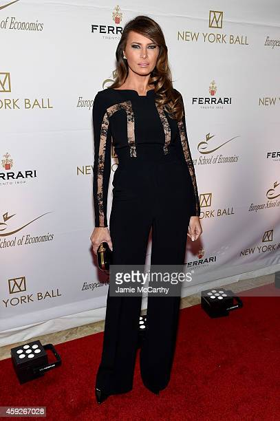 Melania Trump attends The New York Ball The 20th Anniversary Benefit For The European School Of Economics at Trump Tower on November 19 2014 in New...