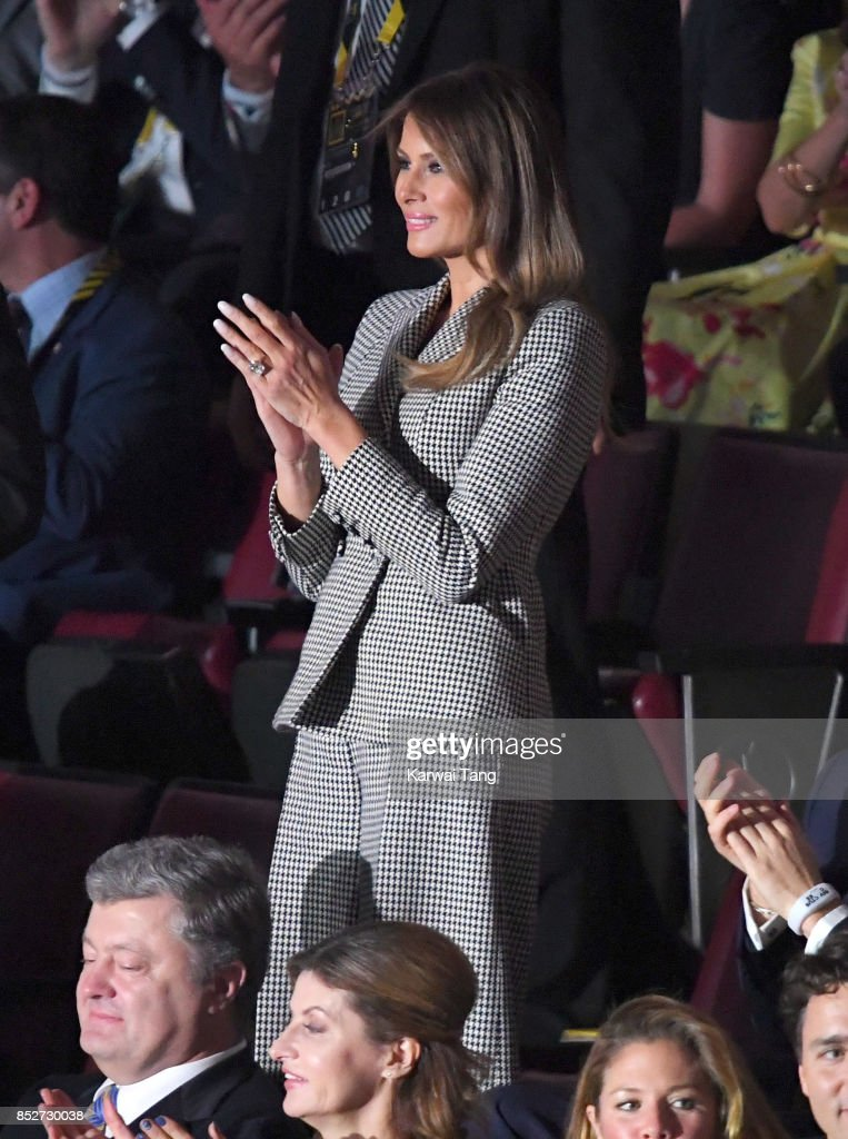 Melania Trump attends the Opening Ceremony of the Invictus Games Toronto 2017 at the Air Canada Arena on September 23, 2017 in Toronto, Canada. The Games use the power of sport to inspire recovery, support rehabilitation and generate a wider understanding and respect for the Armed Forces.