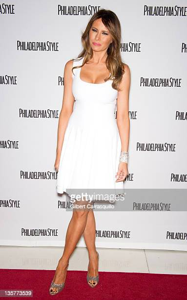 Melania Trump attends the Philadelphia Style Magazine holiday issue release  party at 10 Arts Lounge at