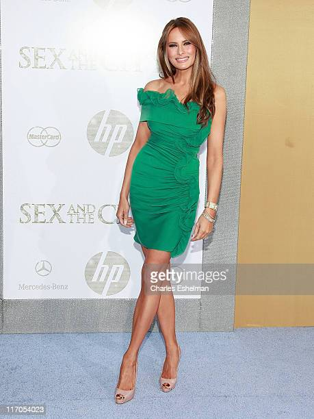 Melania Trump attends the premiere of 'Sex and the City 2' at Radio City Music Hall on May 24 2010 in New York City
