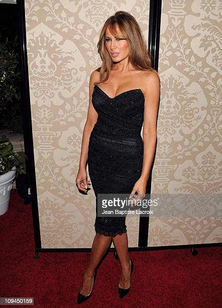 Melania Trump attends the QVC red carpet style party held at the Four Seasons Hotel Los Angeles on February 25 2011 in Los Angeles California