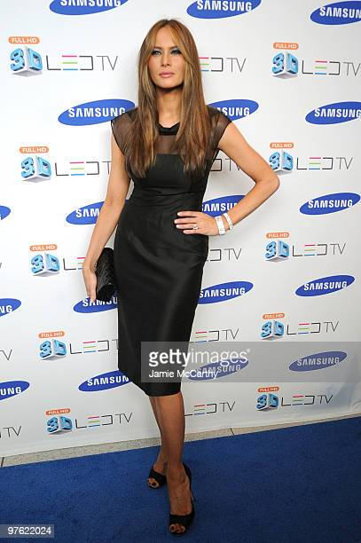 Melania Trump attends the Samsung 3D LED TV launch party with THE BLACK EYED PEAS at Time Warner Center on March 10, 2010 in New York City.