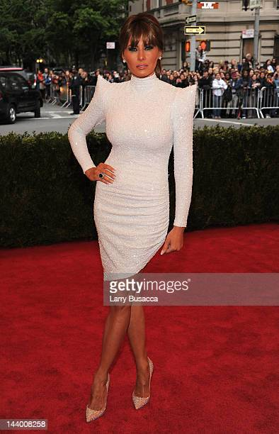 Melania Trump attends the Schiaparelli And Prada Impossible Conversations Costume Institute Gala at the Metropolitan Museum of Art on May 7 2012 in...