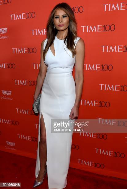Melania Trump attends the Time 100 Gala celebrating the Time 100 issue of the Most Influential People at The World at Jazz at Lincoln Center on April...