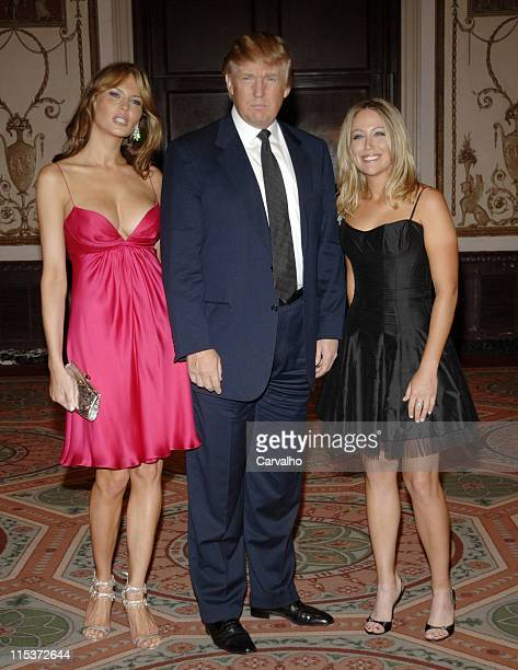 Melania Trump Donald Trump and Christy Kerr during The Breast Cancer Research Foundation's Annual Red Hot Pink Party Inside Arrivals at Waldorf...