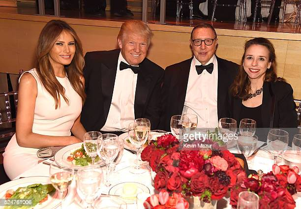Melania Trump Donald Trump Chief Content Officer of Time Inc Norman Pearlstine and industrial engineer Jane Boon attend the 2016 Time 100 Gala Time's...