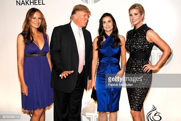 Melania Trump, Donald Trump, Demi Moore and Ivanka Trump attend... News Photo - Getty Images
