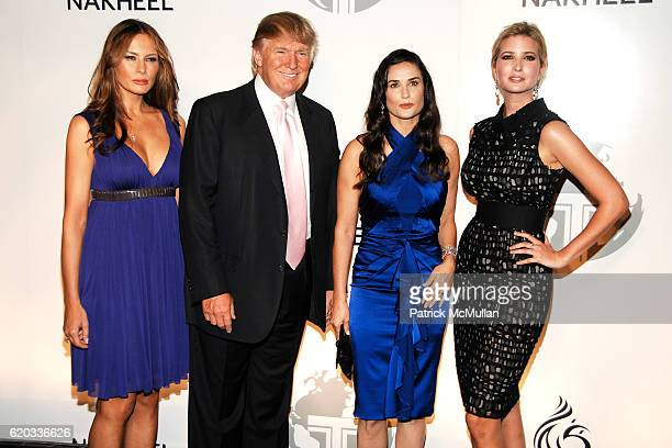 Melania Trump Donald Trump Demi Moore and Ivanka Trump attend NAKHEEL and TRUMP INTERNATIONAL Launch Party for TRUMP DUBAI at Park Avenue Plaza on...