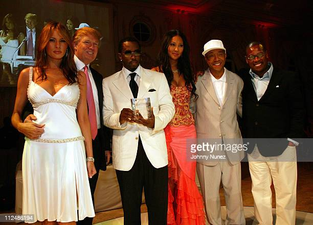 Melania Trump Donald Trump Sean P Diddy Combs Kimora Lee Simmons Russell Simmons and Andre Harrell