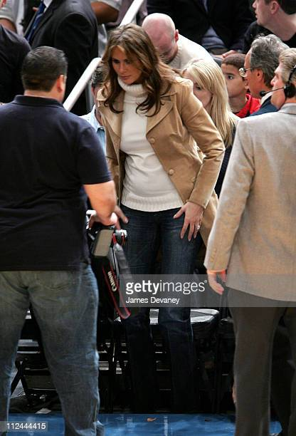 Melania Trump during Celebrities Attend the Washington Wizards vs New York Knicks Game November 4 2005 at Madison Square Garden in New York City New...