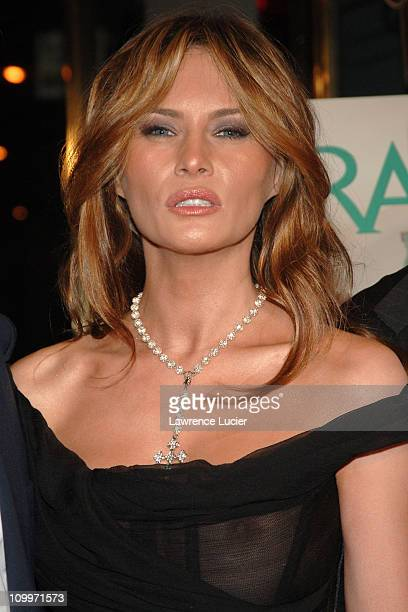 Melania Trump during Donald Trump Hosts the Opening Night Reception of Veranda: New York's Best at Trump Park Avenue, The Ultimate Showcase Penthouse...