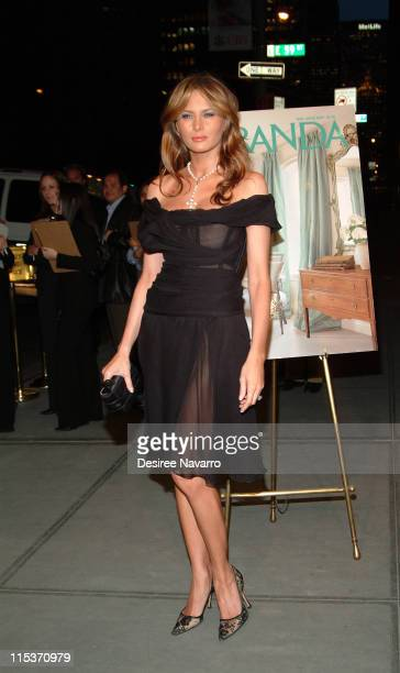 Melania Trump during Donald Trump Hosts the Opening Night Reception of 'Veranda New York's Best at Trump Park Avenue The Ultimate Showcase Penthouse'...