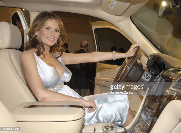 Melania Trump during Melania Trump Unveils The 2007 Cadillac Escalade to The Fashion World at Milk Studios in New York City New York United States