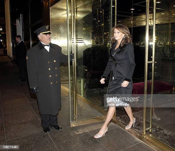 Melania Trump during Melania Trump Unveils The 2007 Cadillac Escalade to The Fashion World at Milk Studios in New York City New York United States