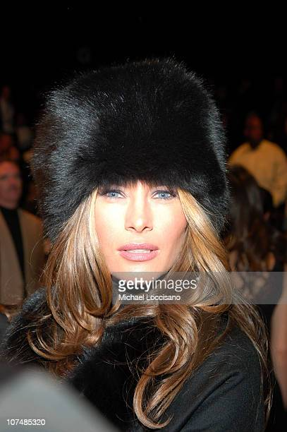 Melania Trump during MercedesBenz Fashion Week Fall 2007 Michael Kors Front Row and Backstage at The Tent Bryant Park in New York City New York...