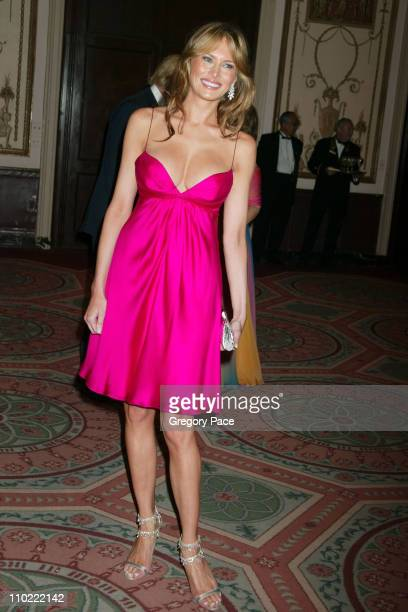 Melania Trump during The Breast Cancer Research Foundation's Annual Red Hot Pink Party Arrivals at Waldorf Astoria in New York City New York United...