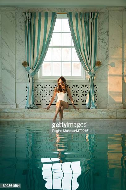 Melania Trump is photographed in the Trump Country House on January 5 2016 in Westchester County New York Makeup by wwwnicolebrylskincarecom