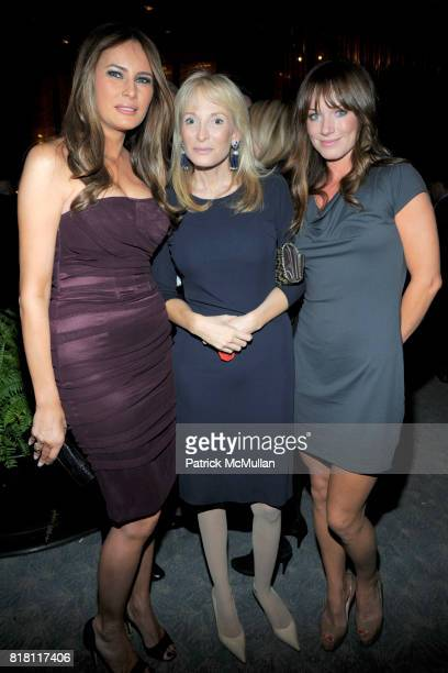 Melania Trump Pamela Gross and Jane Notar attend New York POST EditorinChief COL ALLAN Hosts Party For RICHARD JOHNSON's 25 Years at PAGE SIX at 4...