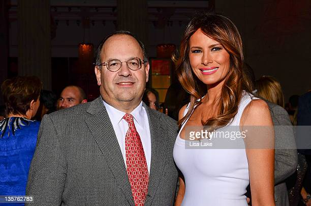 Melania Trump poses with guest at The Philadelphia Style Magazine cover event hosted by Melania Trump at Ritz Carlton Hotel on December 13 2011 in...