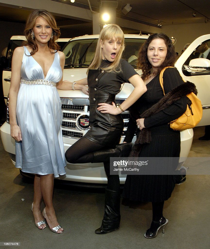 Melania Trump Unveils The 2007 Cadillac Escalade to The Fashion World : News Photo