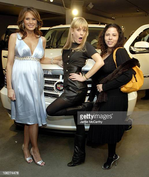 Melania Trump Tara Subkoff and Alice Roi during Melania Trump Unveils The 2007 Cadillac Escalade to The Fashion World at Milk Studios in New York...