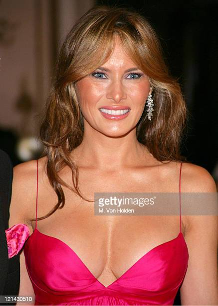 Melania Trump Trump during The Breast Cancer Research Foundation's Annual Hot Pink Party at Waldorf Astoria Hotel in New York New York United States