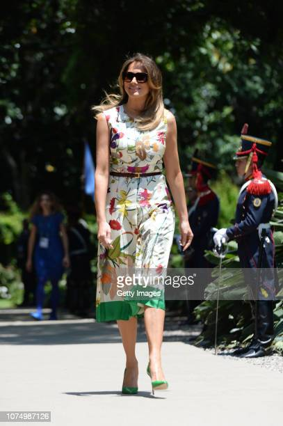 Melania Trump US President Donald Trump's wife arrives to a visit to Villa Ocampo as part of the Argentina G20 Leaders' Summit 2018 Partners...