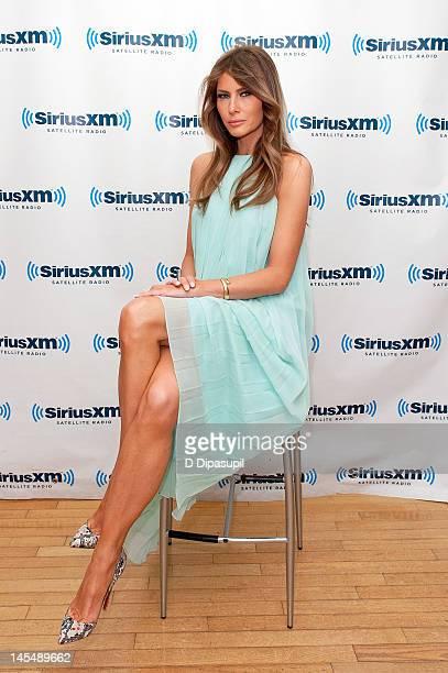 Melania Trump visits SiriusXM Studios on May 31 2012 in New York City