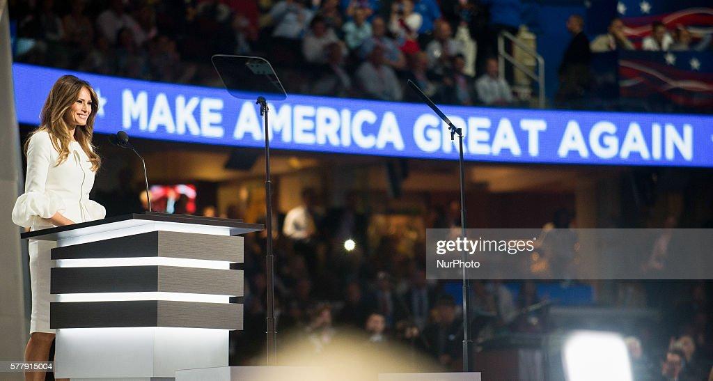 Melania Trump speaks at the RNC : News Photo
