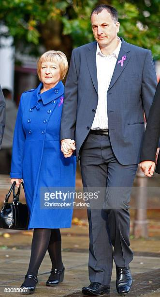 Melanie and Stephen Jones parents of murdered schoolboy Rhys Jones arrive for the start of the trial of Sean Mercer age 18 accused of their son's...