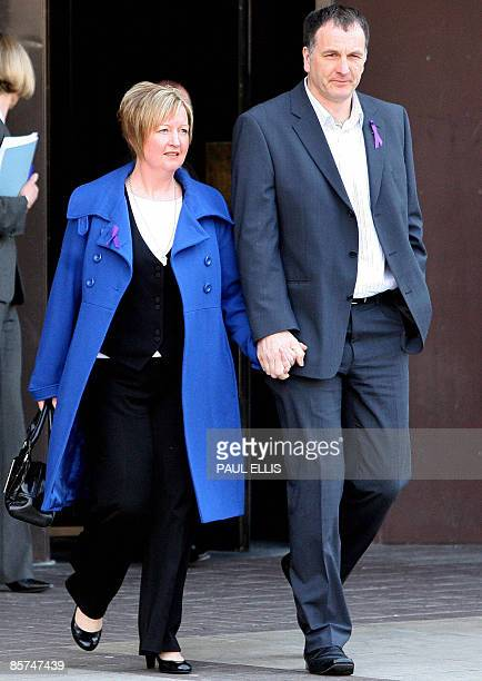 Melanie and Steve Jones the parents of murdered 11yearold Rhys Jones leave on April 1 2009 after the sentencing of Janette Mercer and Francis and...