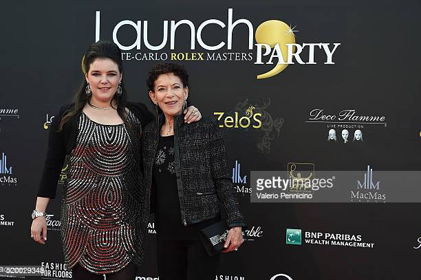 Melanie Antoinette De Massy and Elisabeth Ann De Massy attend the Launch Party at ZeloÕs Monaco during preview day of the ATP Monte Carlo Masters at...