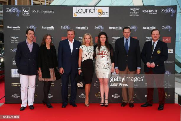 Melanie Antoinette de Massy with guests during the ATP Monte Carlo Rolex Masters Launch Party at the Grimaldi Forum on April 12 2014 in Monaco Monaco